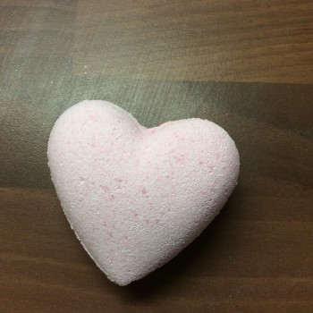 Strawberry Heart Bath Bomb
