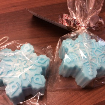 2 Frozen Snow Cookie soaps